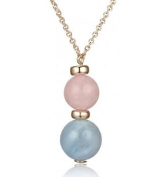 Lanfeny Sterling Pendant Necklace Aquamarine