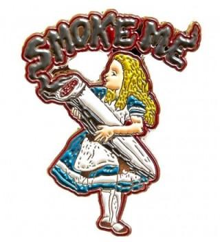 "Alice In Wonderland ""Smoke Me"" Novelty Enamel Pin Goldenflower - CG12EXKTMXZ"
