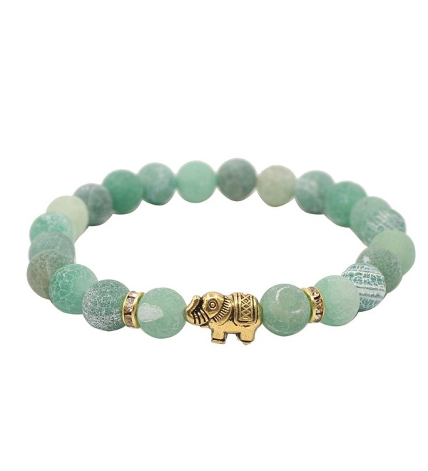 KSQS Lover Couple Bracelet Yoga Balancing Reiki Healing with Elephant for Christmas Thanksgiving - Green - C01864E29GC