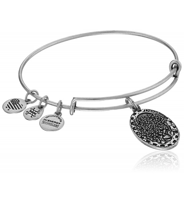 Alex and Ani Daughter Expandable Charm Bangle - Rafaelian Silver Finish - C212CLYYIOD