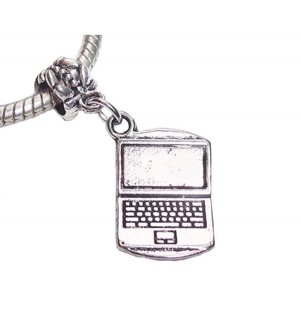 Laptop Computer Notebook Tablet Technology Dangle Charm for European Bracelets - CW12JDFY4SD