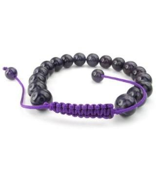 KONOV Gemstone Amethyst Bracelet Adjustable