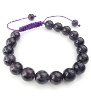 KONOV Gemstone Amethyst Bracelet Adjustable in Women's Link Bracelets