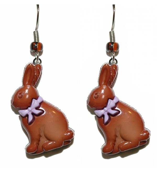 Chocolate Easter Bunny Dangle Earrings (H139a2) - CD17YHSE8QA