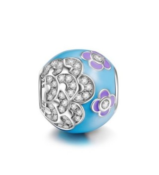"""NinaQueen """"Camellia"""" 925 Sterling Silver Bead Charms - CD127KZJXST"""