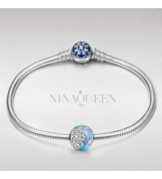 NinaQueen Camellia Sterling Silver Zirconia in Women's Charms & Charm Bracelets