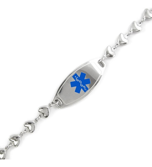 MyIDDr - Pre-Engraved & Customizable Pacemaker ID- Medical Alert Bracelet- Heart Chain - C611CKB36RN