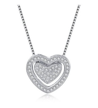 Necklace Twining Sterling Pendant Zirconia - color6 - CL1888GCHSO