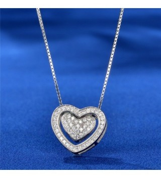 Necklace Twining Sterling Pendant Zirconia