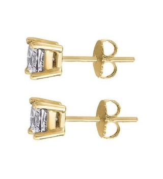 Karat Zirconia Earrings 1 00 Weight Stone