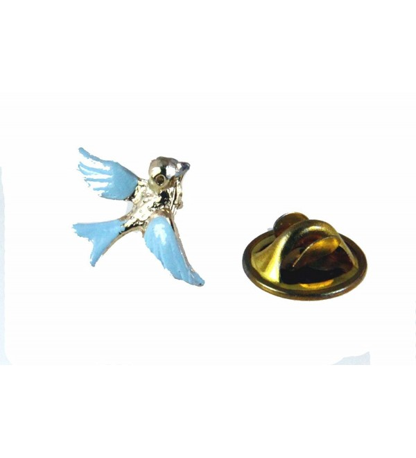6030344 Bluebird of Happiness Lapel Pin Brooch Tie Tack Blue Bird Cheer Guide - CQ11E9NCD0L