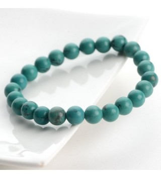 Natural Turquoise Gemstone Bracelet 204703034 in Women's Stretch Bracelets