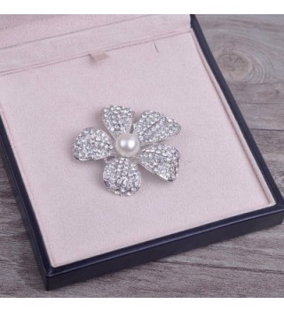 Yilanair Flower Crystal Pearl Brooch