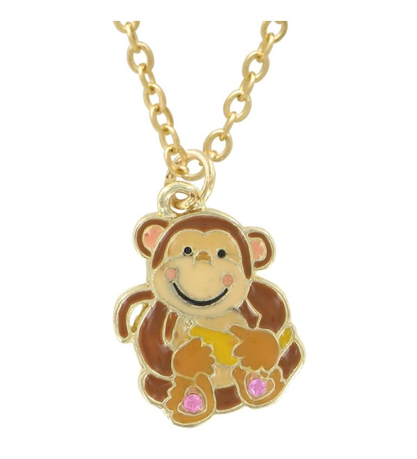 Monkey Pendant Necklace in Figural Gift Box - CW11BLZV315