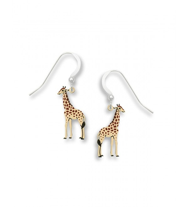 Painted Giraffe Earrings Made in USA by Sienna Sky 1721 - C711CAO25FN