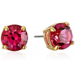 "kate spade new york ""Cueva Rosa"" Gold-Tone Pink Glass Stud Earrings - CW11516S8FT"