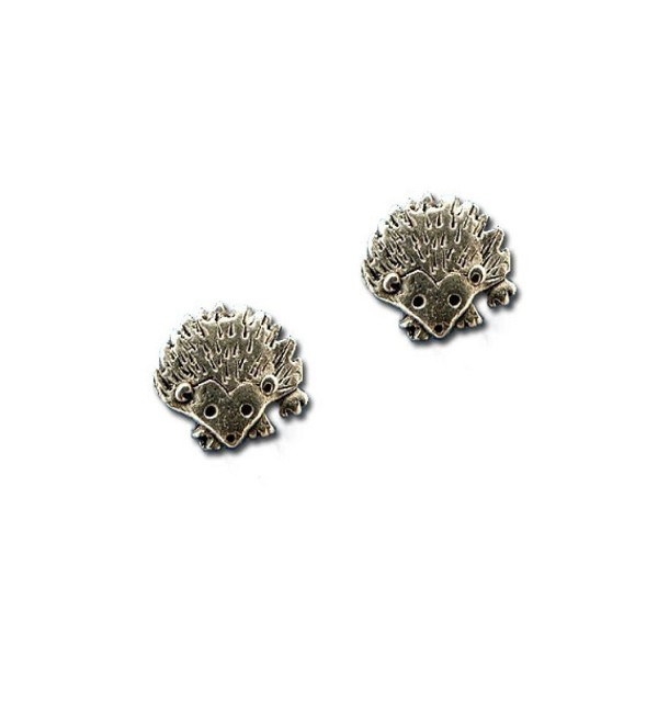 Pewter Hedgehog Post Earrings by The Magic Zoo - CH11DF1AK57
