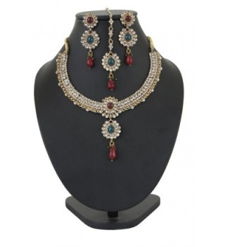 Touchstone Indian bollywood jewelry necklace