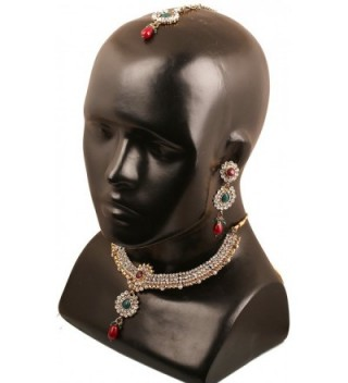 Touchstone Indian bollywood jewelry necklace in Women's Jewelry Sets