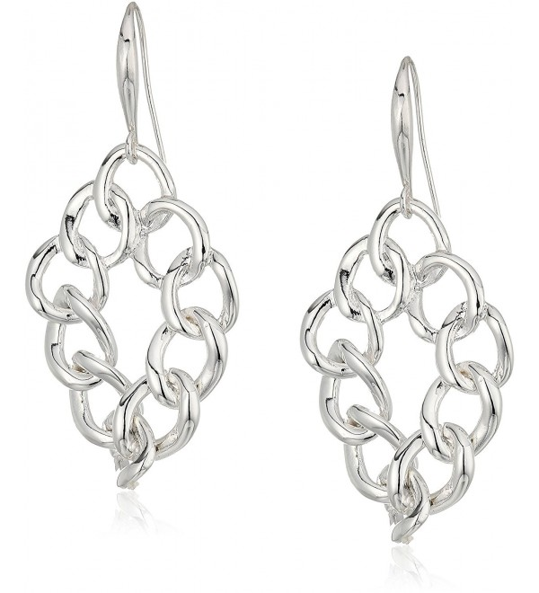 Robert Lee Morris Silver Chain Link Drop Earrings - CN186UCA6A5