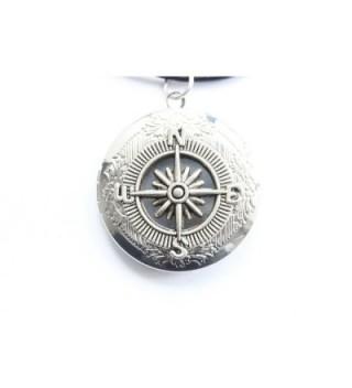 Compass Locket Necklace Vintage Antique