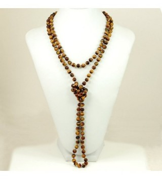 Ny6design Tigereye Hand Knotted Necklace N16111502d in Women's Strand Necklaces