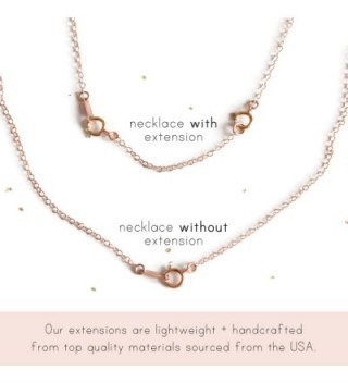 Filled Necklace Bracelet Extender Chain in Women's Chain Necklaces