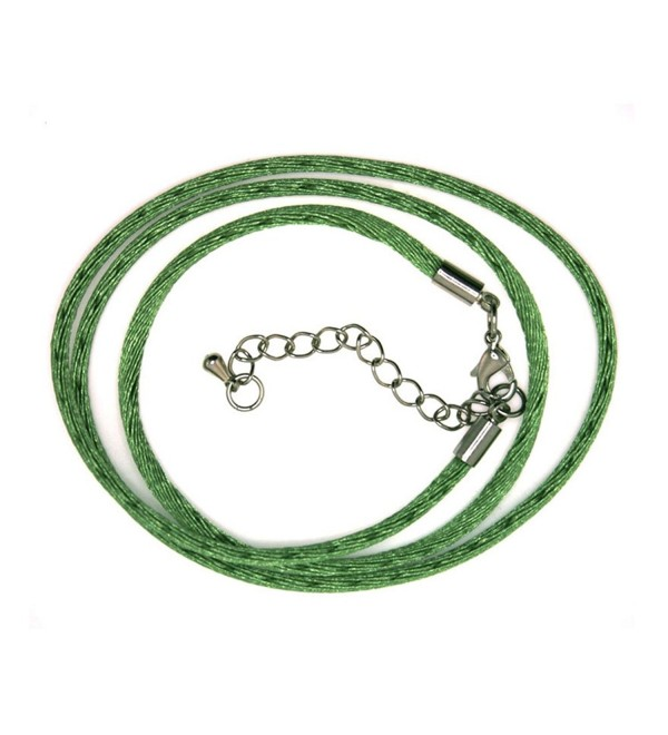 30 Inch Silk Cord with 2 in. extender - 2MM - Green - C9110IY5IAB