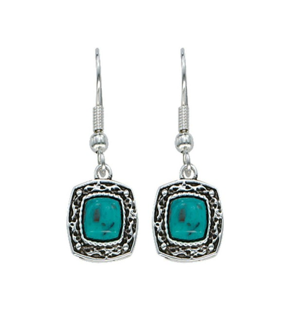 Montana Silversmiths Womens Blue Earth Drop Earrings Turquoise - C511BBGMIH7