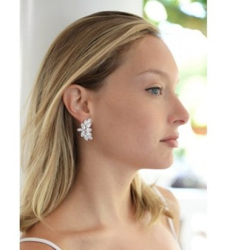 Mariell Zirconia Marquis Cut Graceful Earrings