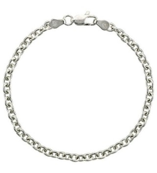 Sterling Silver Cable Link Chain Necklaces & Bracelets 3.8mm Nickel Free Italy- sizes 7 - 30 inches - C3112878VN3