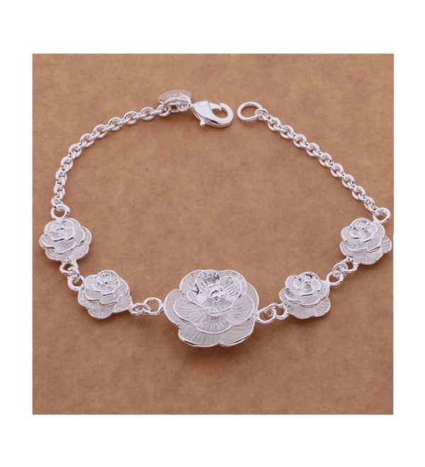 IVYRISE The Flower Type Silver Beautiful Chain Bracelet - CG124V7L0QR