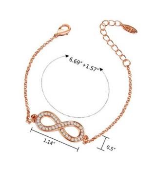 ANBALA Rose Gold Infinity Bracelet Zirconia in Women's Link Bracelets