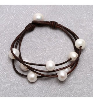 Freshwater Cultured Bracelet Handmade Women Brown