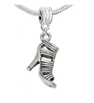 High Heel Shoe Charm Bead for Snake Chain Charm Bracelet - C611YA7U3PH