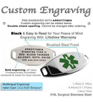 MyIDDr Pre Engraved Customized Arrhythmia Bracelet