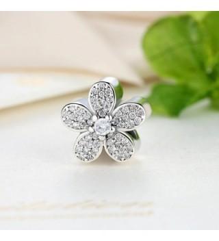 Bamoer 925 Sterling Silver Dazzling Daisy Charm Fit Bracelet With CZ DIY Accessories Jewelry - Dazzling Daisy - CK12DLT4GML