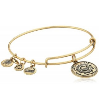 "Alex and Ani ""Armed Forces"" US Coast Guard Expandable Bangle Bracelet - Rafaelian Gold - C111JV7UCMV"