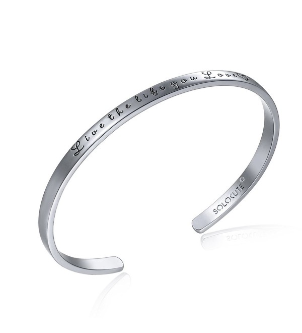 SOLOCUTE Sterling Bracelet Inspirational Bracelets - White Gold - CG1205RWXQN