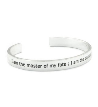 ALoveSoul Have Courage Stay Strong Energy Faith Inspirational Cuff Bangle Bracelet - I Am The Master - CW183C97CIY