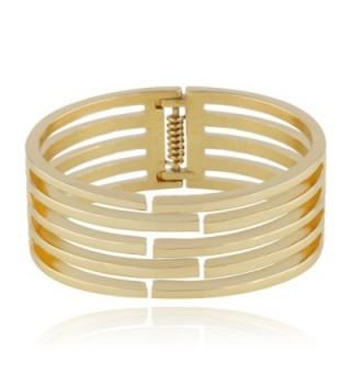 KAYMEN Classic Gold Plated Statement Bracelets in Women's Cuff Bracelets