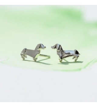 Boma Sterling Origami Dauchshund Earrings in Women's Stud Earrings