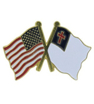US Flag Store Lapel Pin USA and Christian Flag - C21125DBNC1
