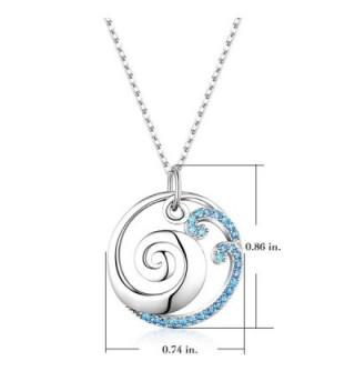Sterling Silver Ocean Pendant Necklace in Women's Pendants