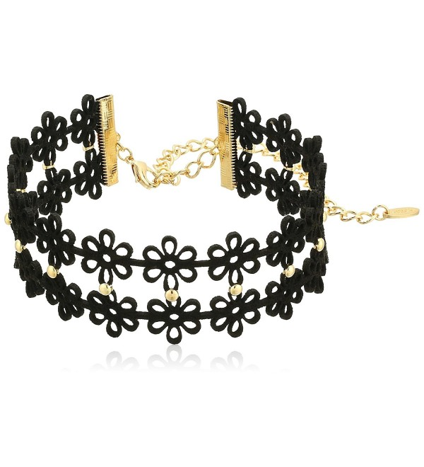 Ettika Donna in Black and Gold Choker Necklace - CK17Y0LHUXH