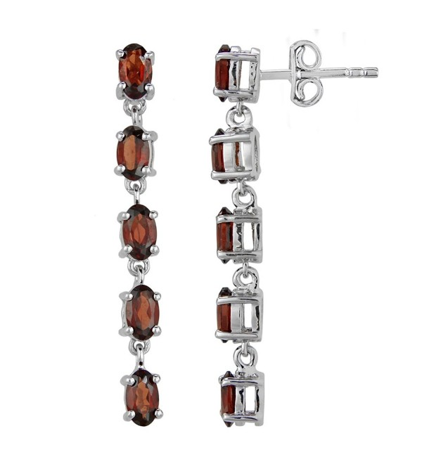 Fine Garnet Earrings in Sterling Silver - CN12FLEYQ8D