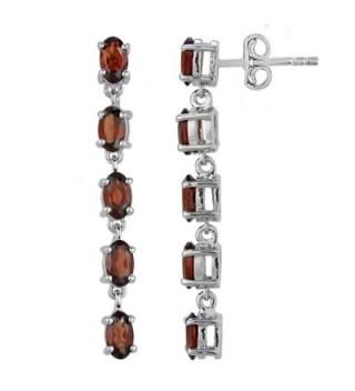 Fine Garnet Earrings in Sterling Silver - CN12FLEYQ8D