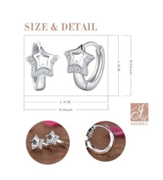 Infinite Earrings Sterling Zirconia Cartilage