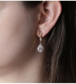 Elegant Teardrop Zirconia Crystal Earrings