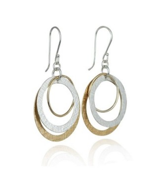Dangle Earrings Sterling Circles Earring in Women's Drop & Dangle Earrings